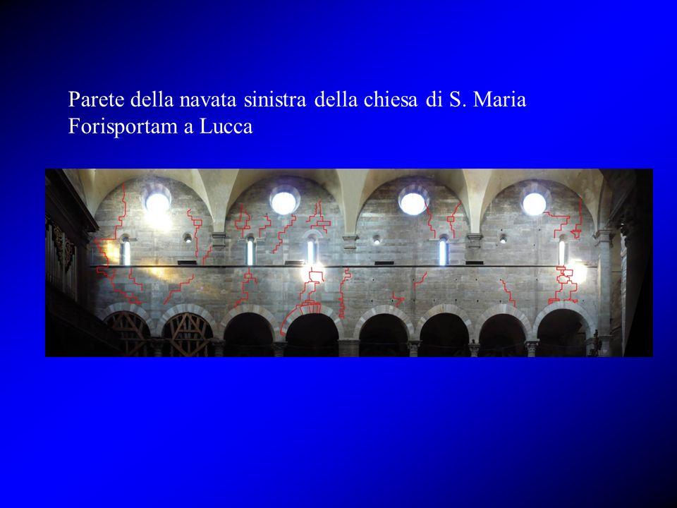 Parete della navata sinistra della chiesa di S. Maria Forisportam a Lucca