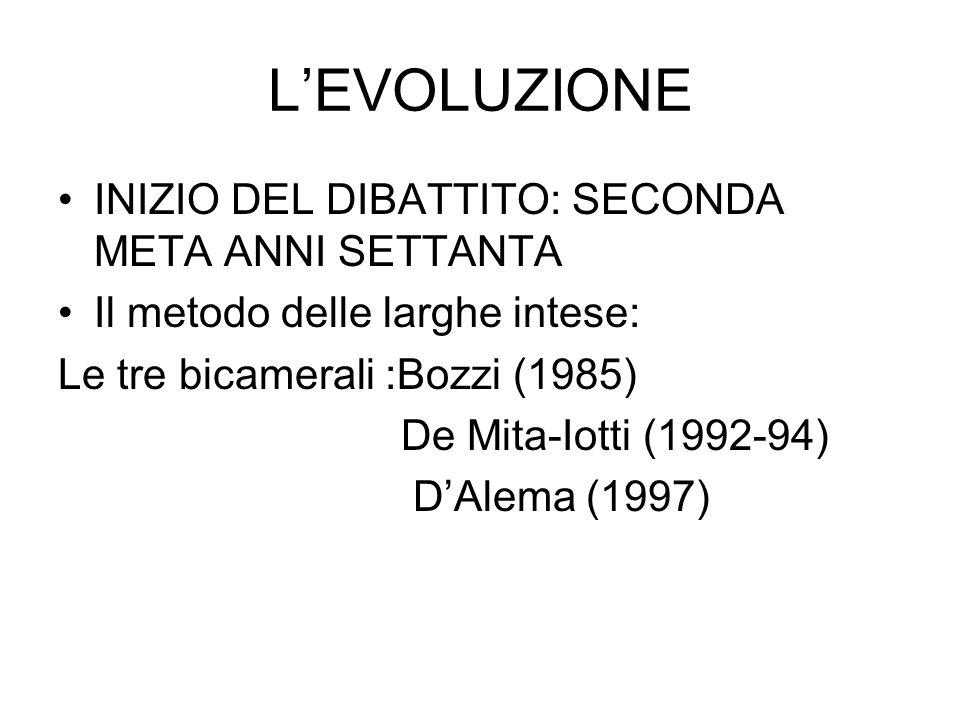 Levoluzione Il metodo a maggioranza: 1999-2001:riforma delle autonomie territoriali 2005: riforma parte II Cost.