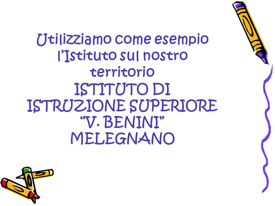 Utilizziamo come esempio lIstituto sul nostro territorio ISTITUTO DI ISTRUZIONE SUPERIORE V. BENINI MELEGNANO