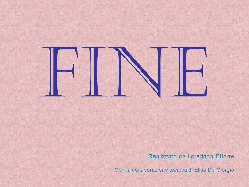 Fine Realizzato da Loredana Ettorre Con la collaborazione tecnica di Elisa De Giorgio
