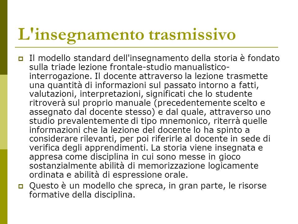 La mediazione didattica All opposto c è il modello della mediazione didattica.