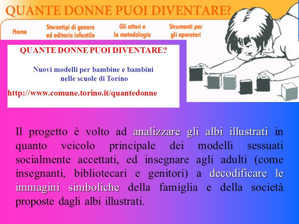 QUANTE DONNE PUOI DIVENTARE? Nuovi modelli per bambine e bambini nelle scuole di Torino http://www.comune.torino.it/quantedonne analizzare glialbi ill