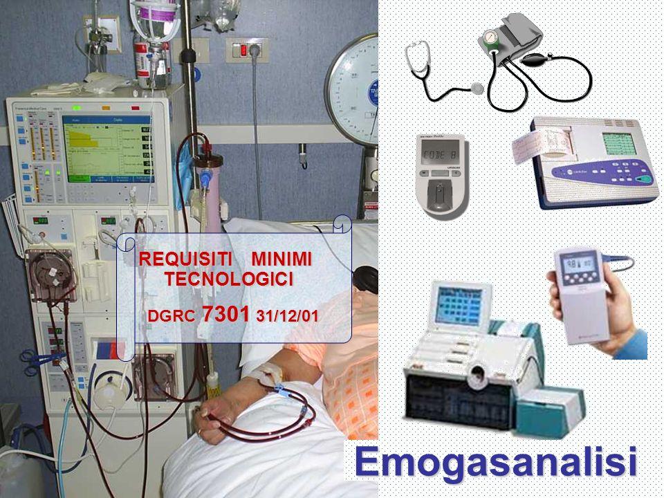 REQUISITI MINIMI TECNOLOGICI DGRC 7301 31/12/01 DGRC 7301 31/12/01 Emogasanalisi