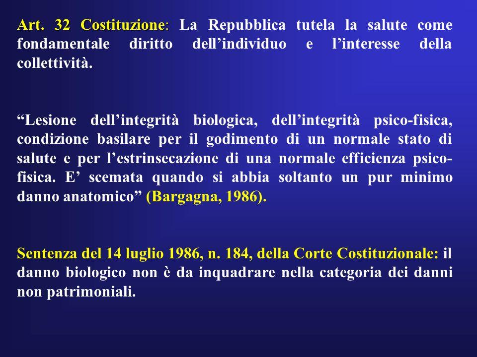 Art. 32 Costituzione: Art. 32 Costituzione: La Repubblica tutela la salute come fondamentale diritto dellindividuo e linteresse della collettività. Le