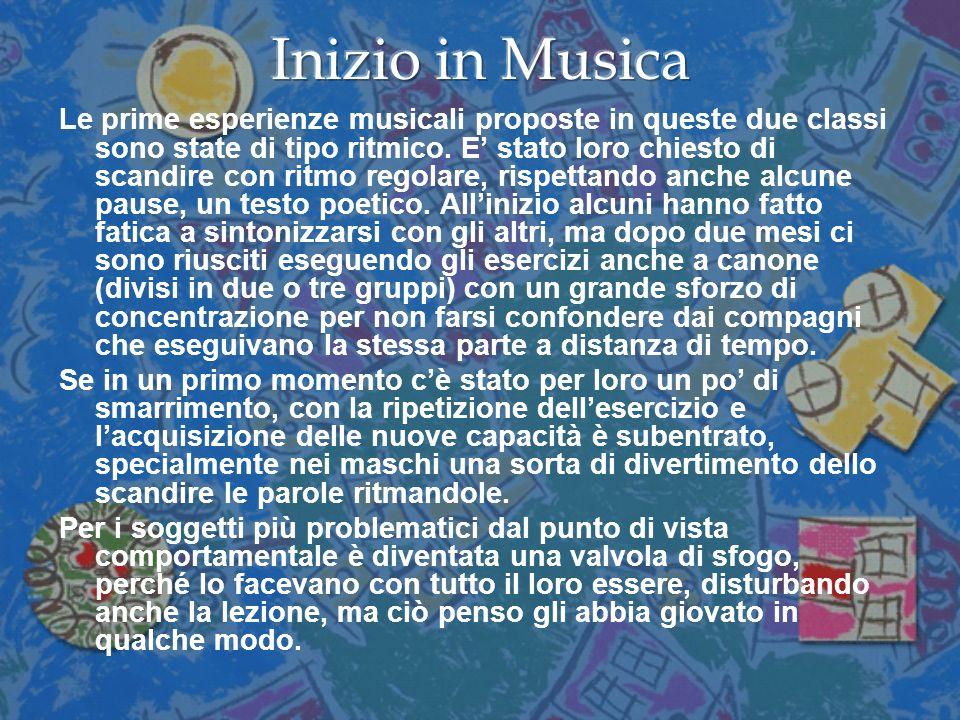 PRIMO ESERCIZIO RITMICO eseguito nelle classi quarte allunisono e a canone[i]: [i] Loppolo P., Pappalardo M., LAbracaritmo.