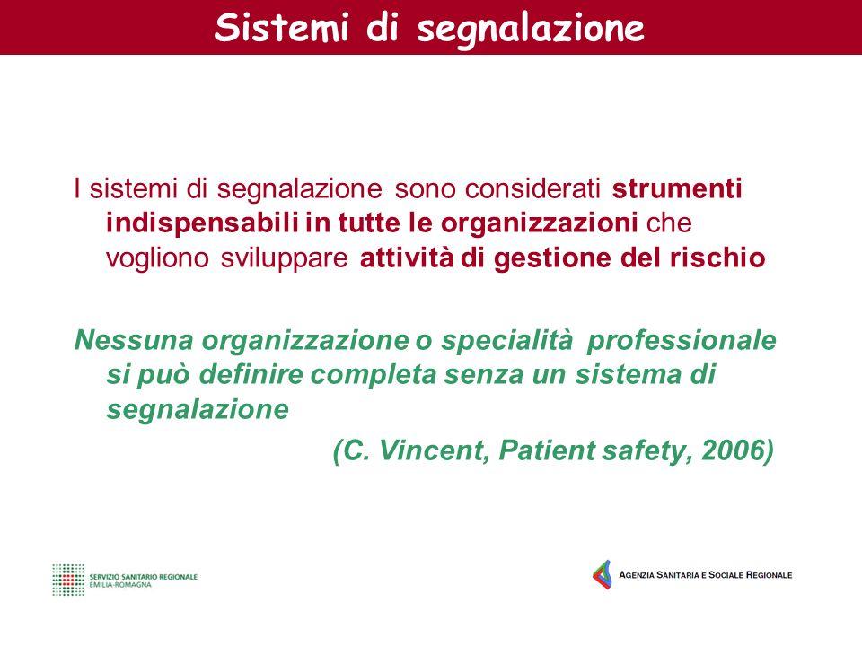 Sistemi di segnalazione I sistemi di segnalazione sono considerati strumenti indispensabili in tutte le organizzazioni che vogliono sviluppare attivit