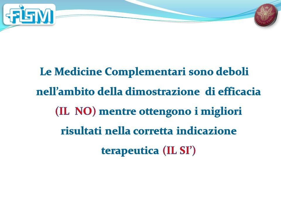 RCT in omeopatia FATTIBILITA I pazienti omeopatici sono poco inclini ad accettare una metodica di randomizzazione.