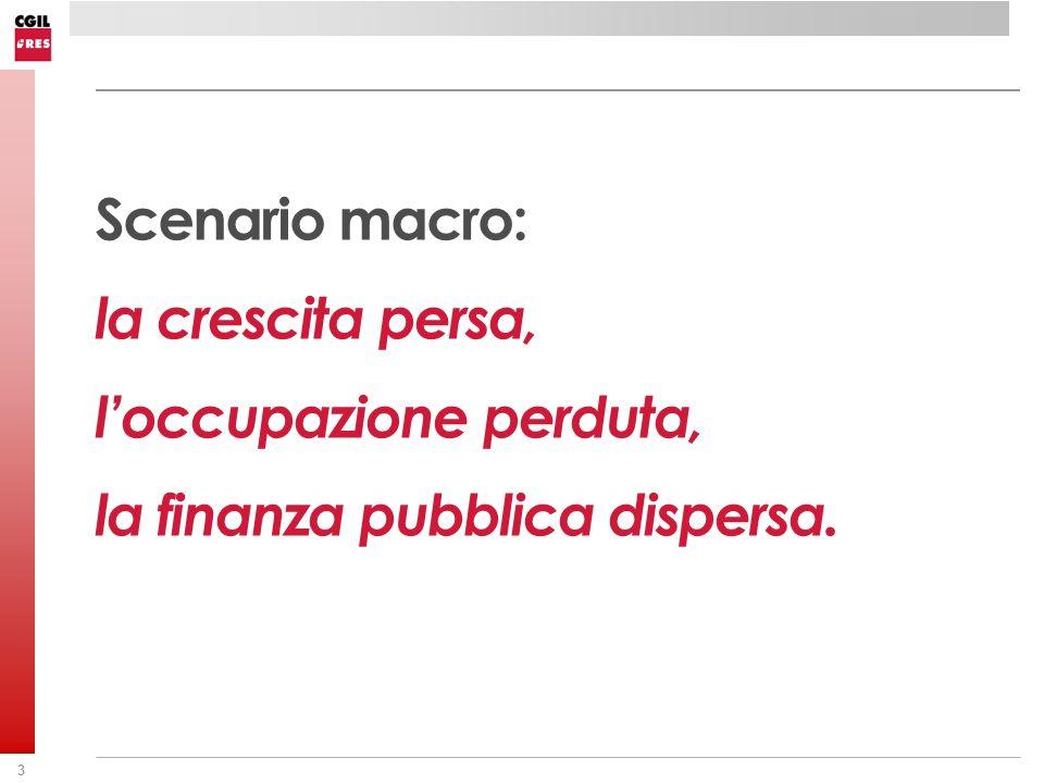 44 La produttività totale dei fattori ( TPF ) in Italia Media annua 1995-2007 LAVORO = 0,7 / CAPITALE = 0,4 Fonte: elaborazioni su dati Istat.