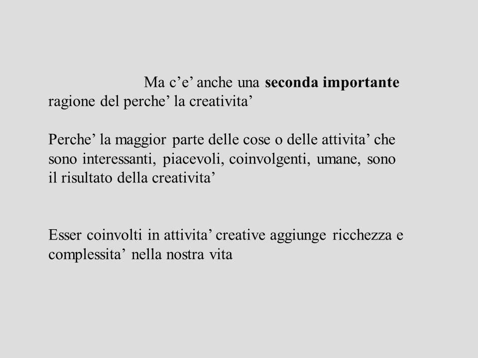 Che cosa è la creatività.