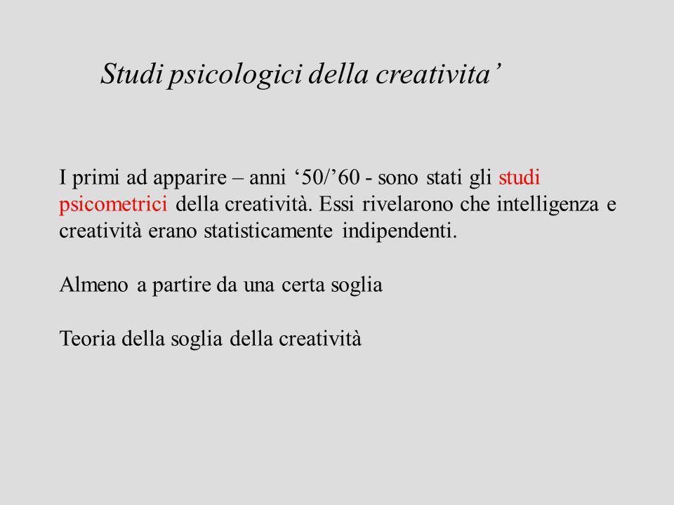 Nuovo strumento: Torrance Test di pensiero creativo Questi nuovi tests di creatività utilizzavano compiti che implicavano il pensiero divergente per misurare i livelli di padronanza linguistica, flessibilità di pensiero e originalità.