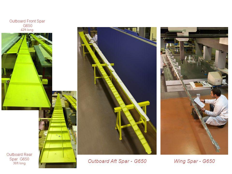 Back to menu Wing Spar - G650 Outboard Rear Spar G650 36ft long Outboard Front Spar G650 42ft long Outboard Aft Spar - G650