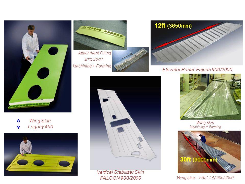 Wing Skin Legacy 450 Vertical Stabilizer Skin FALCON 900/2000 30ft (9000mm) Wing skin – FALCON 900/2000 Wing skin Machining + Forming Elevator Panel F