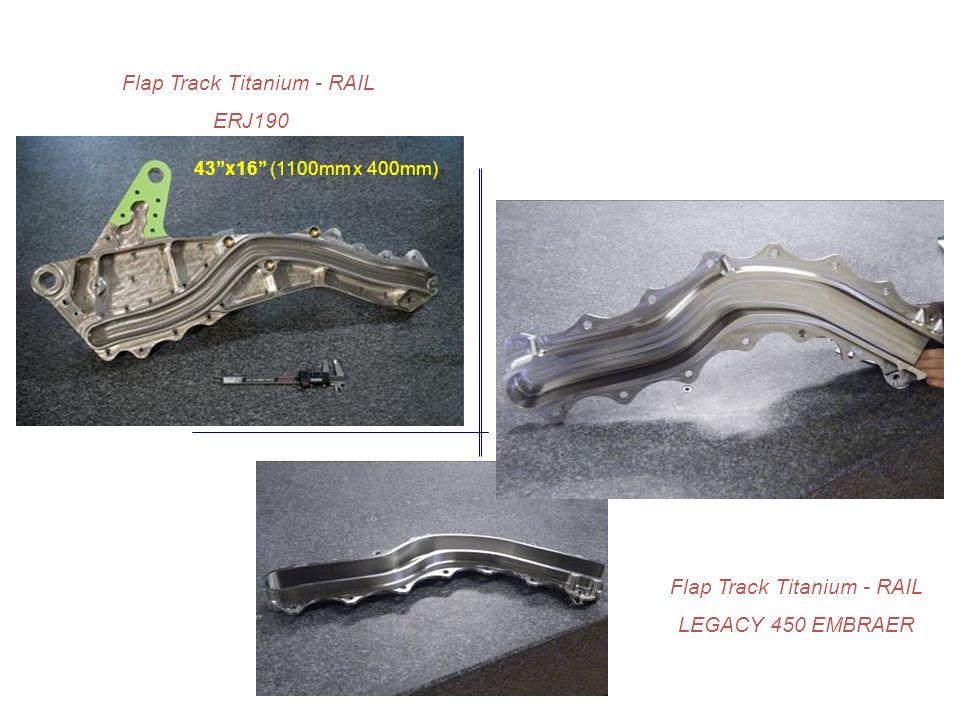 Flap Track Titanium - RAIL ERJ190 Flap Track Titanium - RAIL LEGACY 450 EMBRAER 43x16 (1100mm x 400mm)