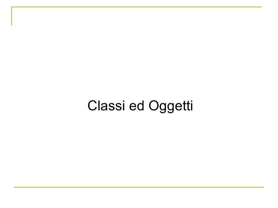 Classi ed Oggetti