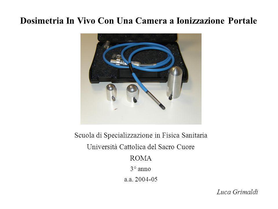 Dosimetria In Vivo Con Una Camera a Ionizzazione Portale Luca Grimaldi Scuola di Specializzazione in Fisica Sanitaria Università Cattolica del Sacro C