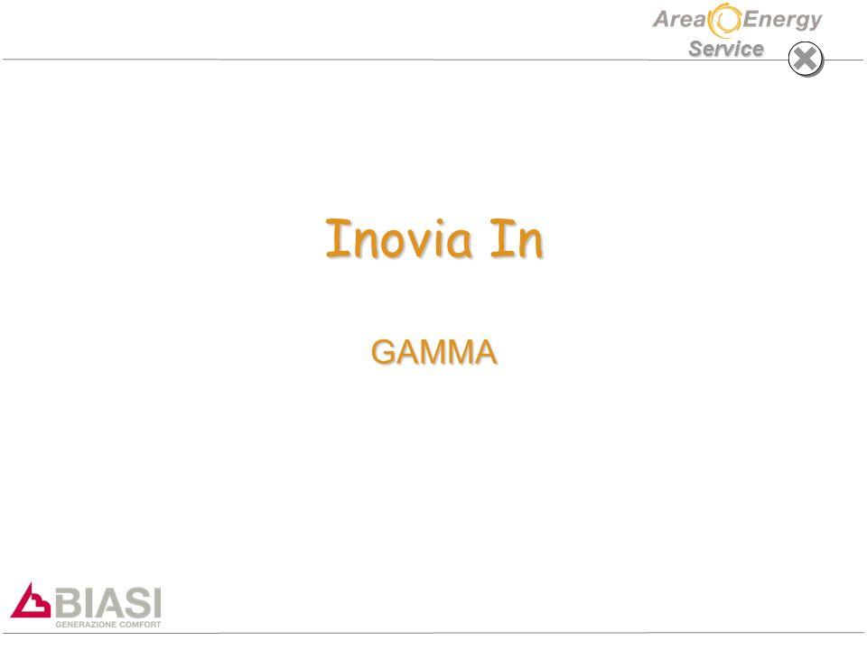 Inovia In: GAMMA Service PRINCIPALI CARATTERISTICHE –SCAMBIATORE CONDENSANTE IN ACCIAIO INOX AISI 316L (MOD.