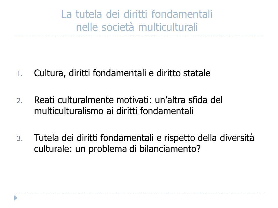2.1.Diritto penale e identità culturale: due casi a confronto 2.1.1.
