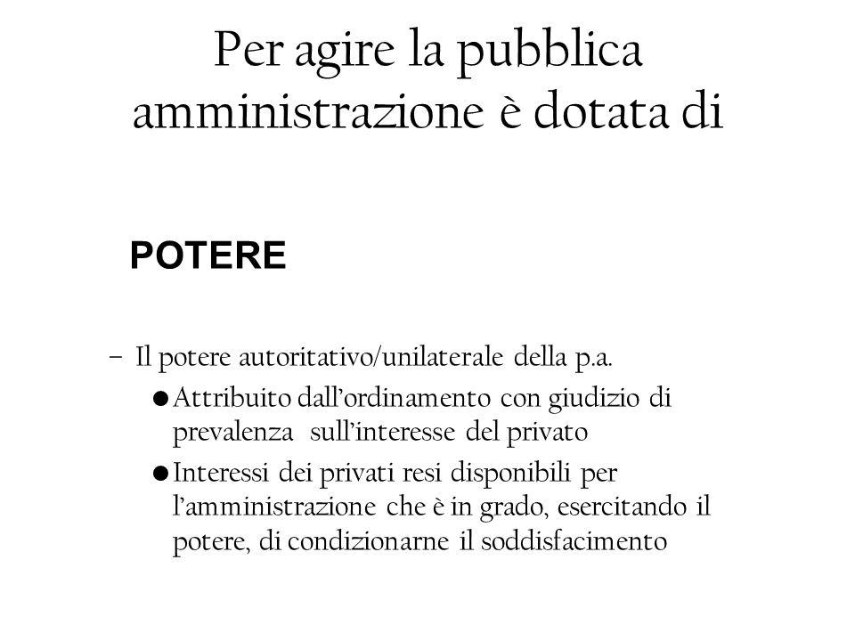 Interesse legittimo Situazione in cui il privato si trova in uno stato di soggezione rispetto al potere pubblico/prevalenza i.p.