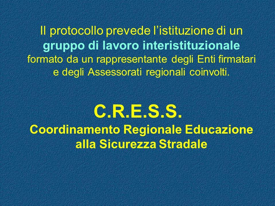 Il protocollo prevede listituzione di un gruppo di lavoro interistituzionale formato da un rappresentante degli Enti firmatari e degli Assessorati reg