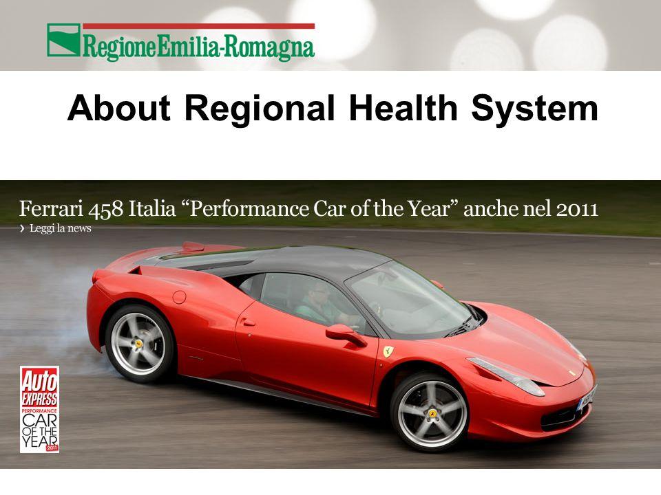 The Health Service of Emilia-Romagna Region 11 Local Health Authorities 4 Teaching Hospitals (AOU) 1 Hospital (AO) 4 Research H.