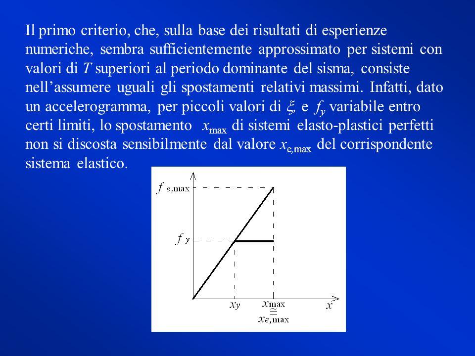 Il primo criterio, che, sulla base dei risultati di esperienze numeriche, sembra sufficientemente approssimato per sistemi con valori di T superiori a