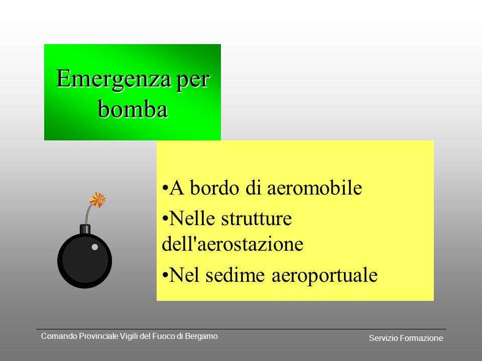Servizio Formazione Comando Provinciale Vigili del Fuoco di Bergamo Emergenza per sostanze pericolose e\o radioattive Protezione individuale operatori