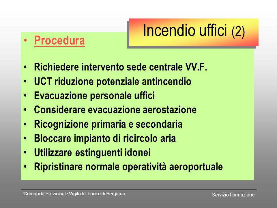 Servizio Formazione Comando Provinciale Vigili del Fuoco di Bergamo Prevenzione Piano d'emergenza aziendale Planimetrie Sopralluoghi Uscite di sicurez