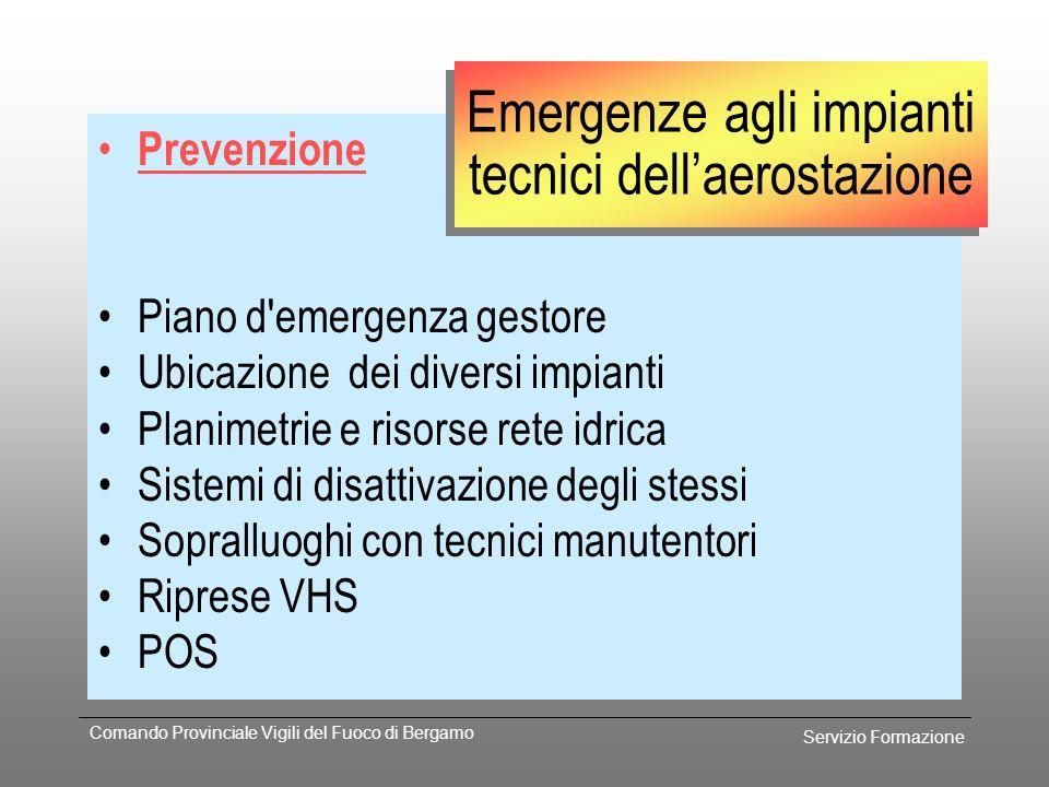 Servizio Formazione Comando Provinciale Vigili del Fuoco di Bergamo Procedura Richiedere intervento sede VV.F. UCT riduzione classe antincendio Sicure