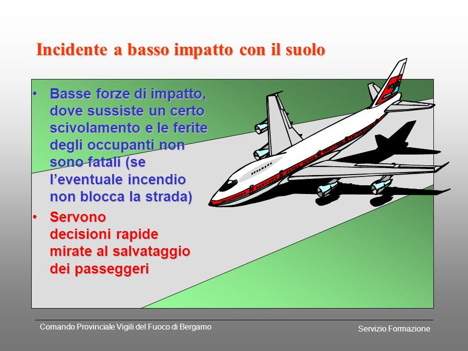 Servizio Formazione Comando Provinciale Vigili del Fuoco di Bergamo Incidente ad elevato impatto con il suolo LA POSSIBILITA DI SALVARE DELLE VITTIME