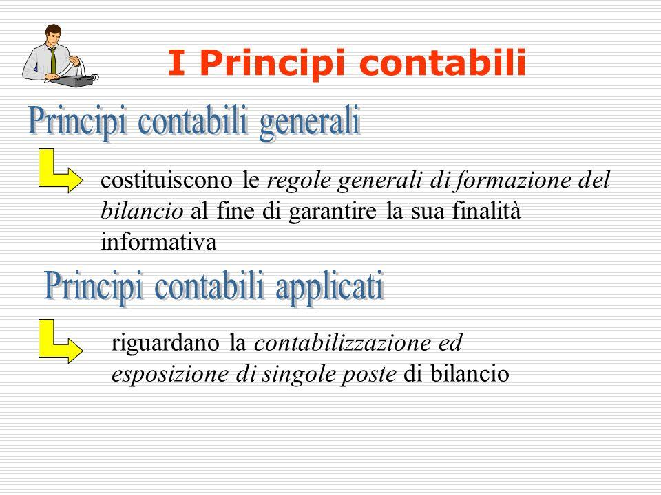 costituiscono le regole generali di formazione del bilancio al fine di garantire la sua finalità informativa riguardano la contabilizzazione ed esposi