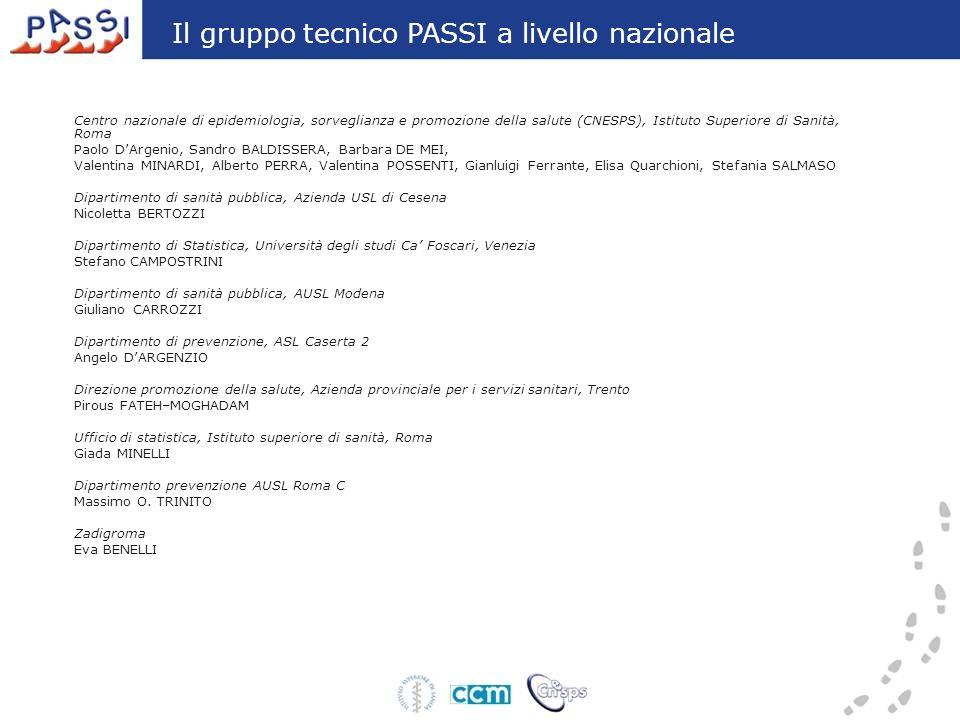Centro nazionale di epidemiologia, sorveglianza e promozione della salute (CNESPS), Istituto Superiore di Sanità, Roma Paolo DArgenio, Sandro BALDISSE