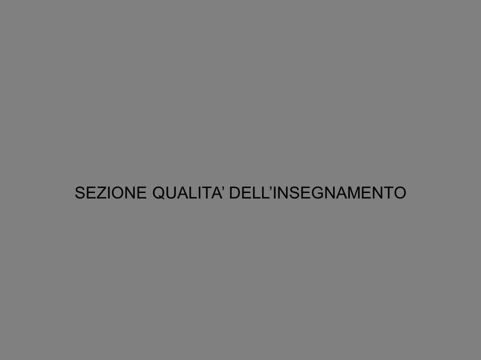 SEZIONE QUALITA DELLINSEGNAMENTO