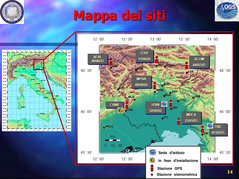 13 Alcuni siti di FReDNet Medea Zouf Plan Alpe Faloria Monte Acomizza