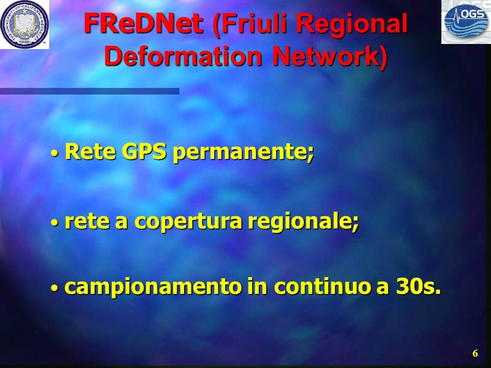 5 Obiettivi Distribuzione della deformazione crostale; Distribuzione della deformazione crostale; stimare lo sforzo intersismico delle faglie attive;