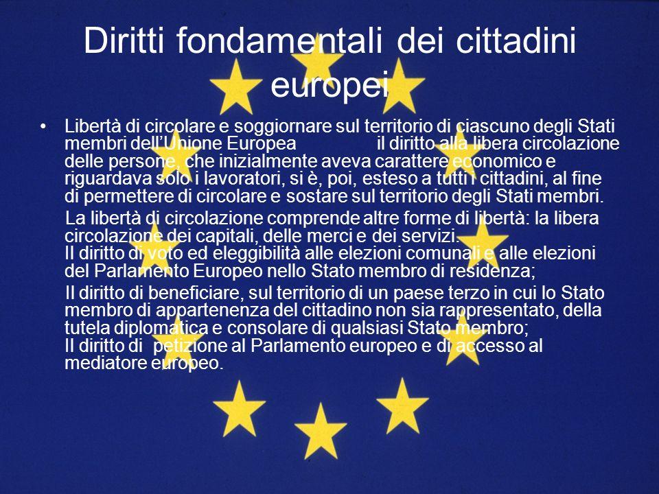 Libertà di circolare e soggiornare sul territorio di ciascuno degli Stati membri dellUnione Europea il diritto alla libera circolazione delle persone,