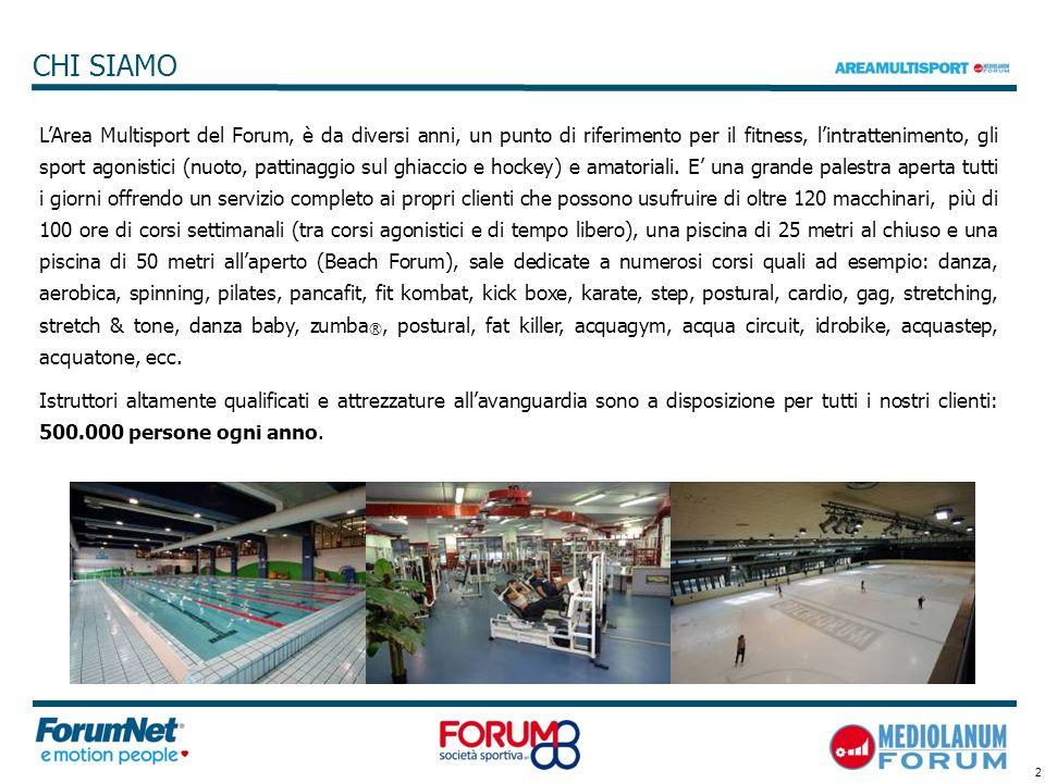 2 LArea Multisport del Forum, è da diversi anni, un punto di riferimento per il fitness, lintrattenimento, gli sport agonistici (nuoto, pattinaggio su