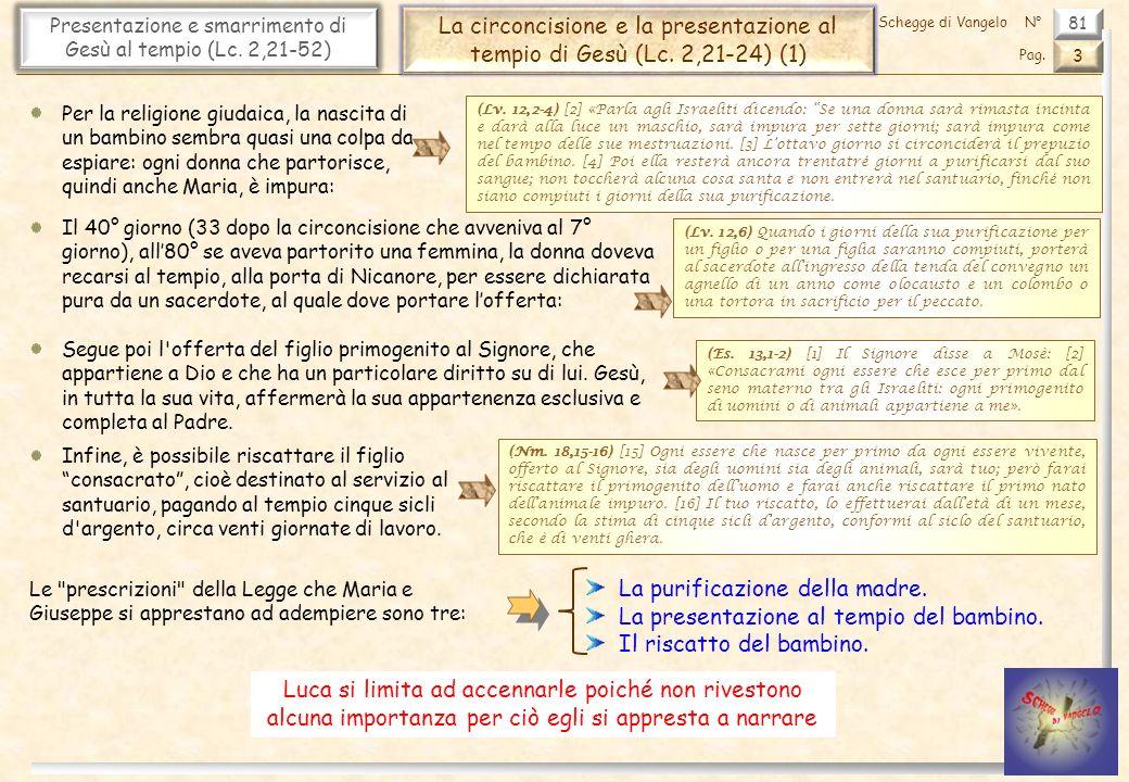 81 Presentazione e smarrimento di Gesù al tempio (Lc.