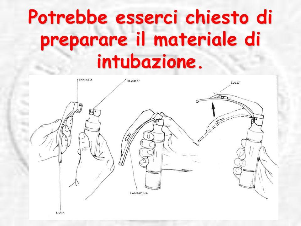 Potrebbe esserci chiesto di preparare il materiale di intubazione.