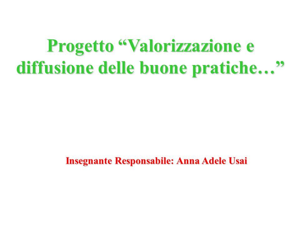 Progetto Valorizzazione e diffusione delle buone pratiche… Insegnante Responsabile: Anna Adele Usai