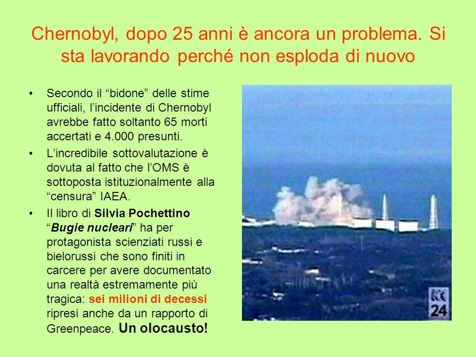 Chernobyl, dopo 25 anni è ancora un problema. Si sta lavorando perché non esploda di nuovo Secondo il bidone delle stime ufficiali, lincidente di Cher
