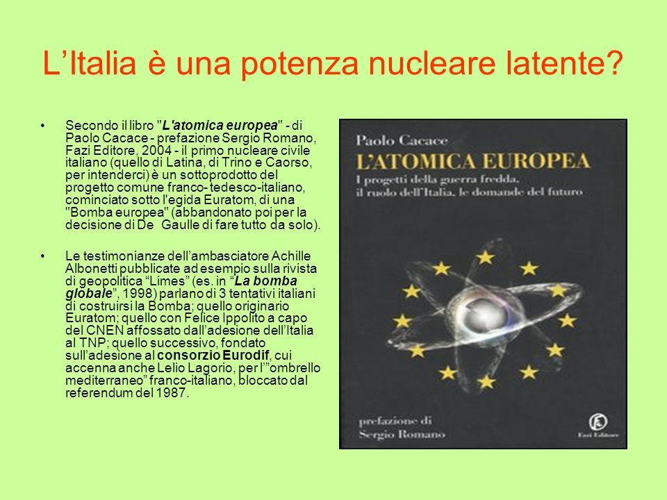 LItalia è una potenza nucleare latente? Secondo il libro