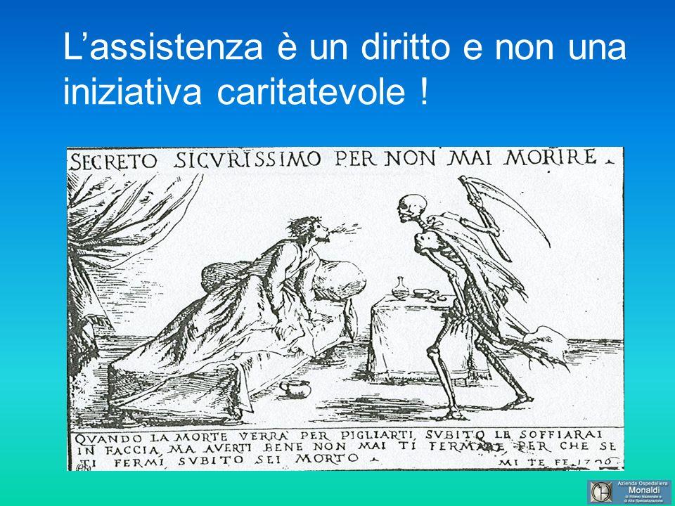 Lassistenza è un diritto e non una iniziativa caritatevole !