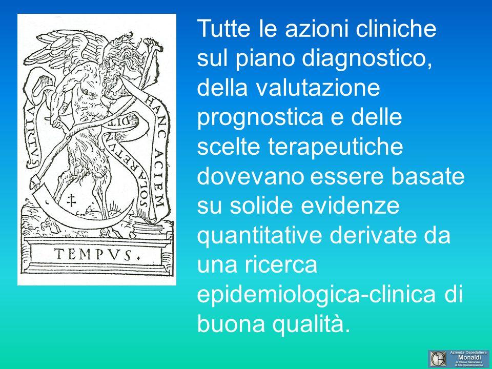 Tutte le azioni cliniche sul piano diagnostico, della valutazione prognostica e delle scelte terapeutiche dovevano essere basate su solide evidenze qu