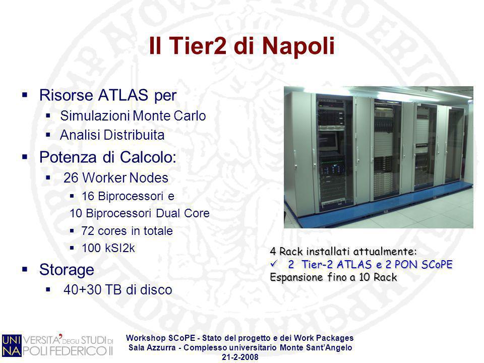 Workshop SCoPE - Stato del progetto e dei Work Packages Sala Azzurra - Complesso universitario Monte SantAngelo 21-2-2008 Il Tier2 di Napoli Risorse A