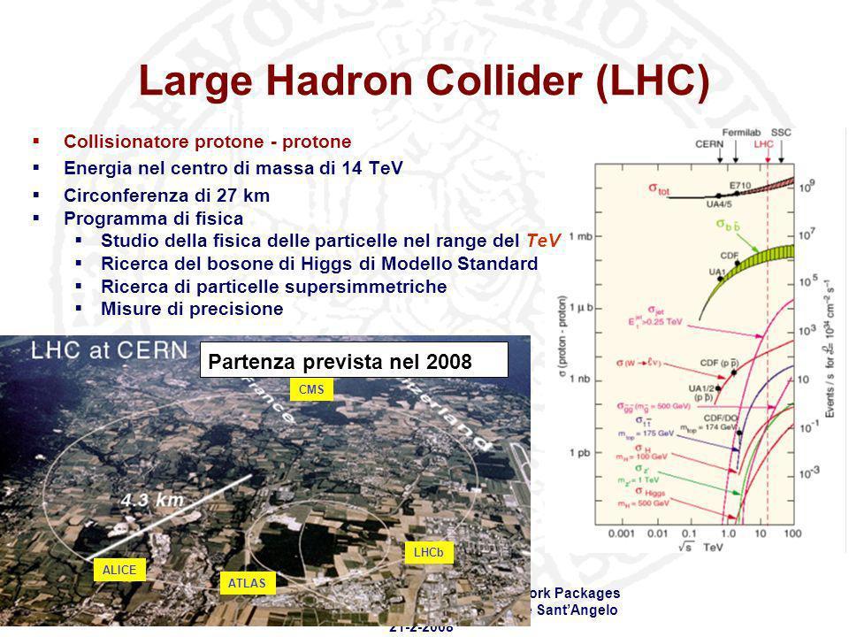 Workshop SCoPE - Stato del progetto e dei Work Packages Sala Azzurra - Complesso universitario Monte SantAngelo 21-2-2008 Large Hadron Collider (LHC)