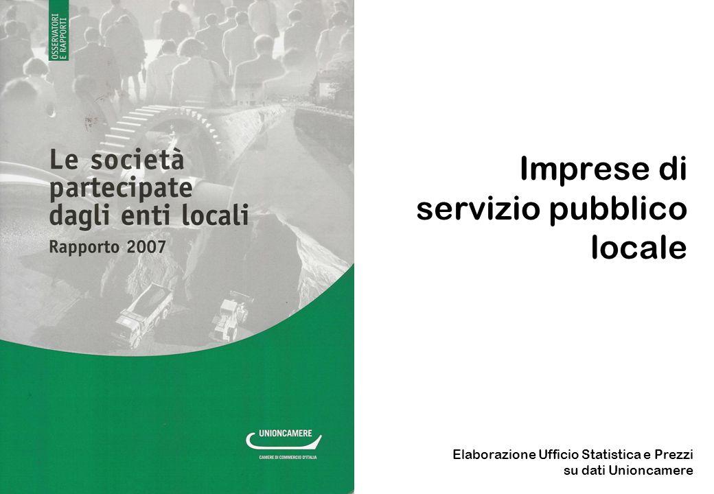 Imprese di servizio pubblico locale Elaborazione Ufficio Statistica e Prezzi su dati Unioncamere