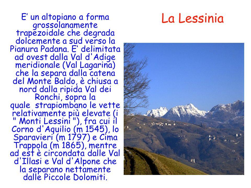 Oro - E un altopiano a forma grossolanamente trapezoidale che degrada dolcemente a sud verso la Pianura Padana. E delimitata ad ovest dalla Val d'Adig