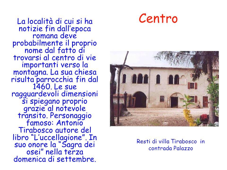 Centro La località di cui si ha notizie fin dallepoca romana deve probabilmente il proprio nome dal fatto di trovarsi al centro di vie importanti vers