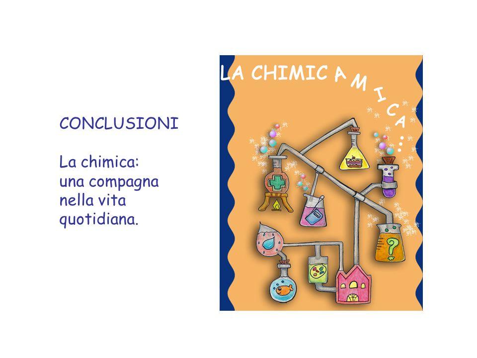 CONCLUSIONI La chimica: una compagna nella vita quotidiana.