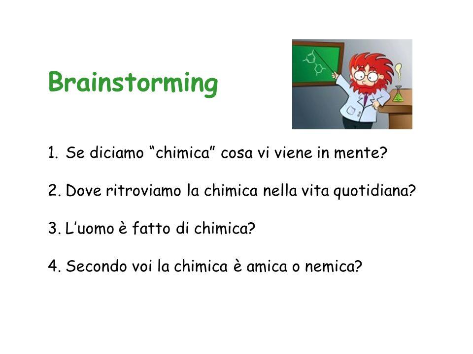 Brainstorming 1.Se diciamo chimica cosa vi viene in mente.